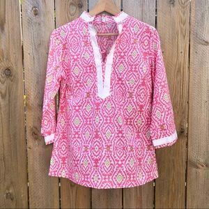 ⚡Peter Millar | Pink print tunic Top